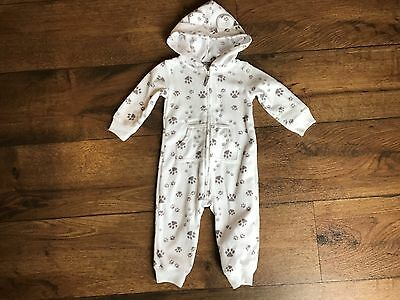 Carter's One Piece Fleece Outfit Dog Details Unisex Size 9 Months