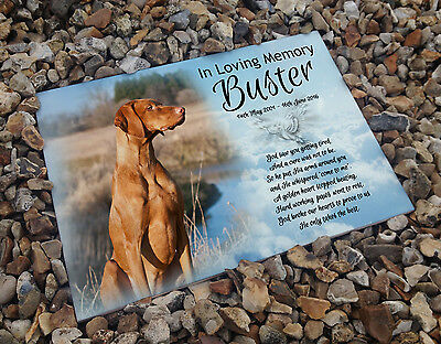 Personalised white cermaic tile headstone memorial plaque Irish setter dog gift