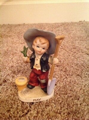 Vintage Lefton 'MAY' Birthday Boy Figurine #2300
