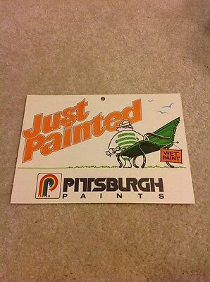 Vintage Wet Paint Sign Pittsburgh Paints Just Painted Sign