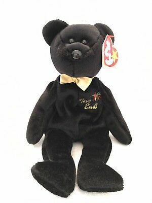 Original The End Beanie Baby Rare ERRORS Flat Tush Tag