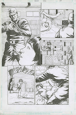 Original Comic Art Green Hornet's Kato Issue 3 Page 3 Origin Story