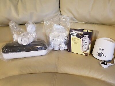 Tommee Tippee Express and Go bundle - pouches, container, bottles, adapters