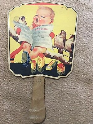 1930s FAN, WALTERSCHEID DRUG, BOONVILLE, MO. ADVERTISING 666 DRUG PRODUCTS