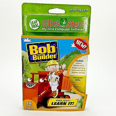 Leapfrog Click Start Educational Software Game Bob The Builder Project Learn It
