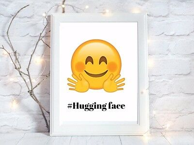 hugging emoji face a4 glossy poster Print nursery picture gift unframed 1