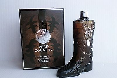 Avon Wild Country Cologne - 50th Anniversary Limited Edition Glass Boot Bottle