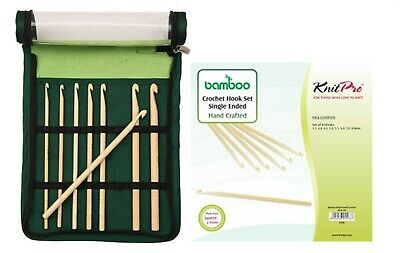 KnitPro Bamboo Crochet Hook Set Hook on One Side 22549