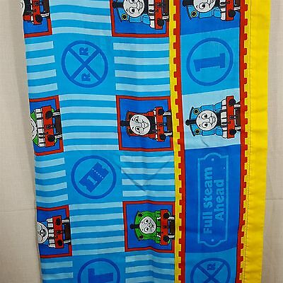 Thomas the Train Flat Bed Sheet Full Steam Ahead James Percy Blue Stripes Fabric