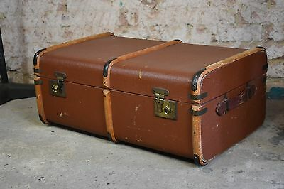 Antique steamer trunk bentwood trunk vintage props coffee table