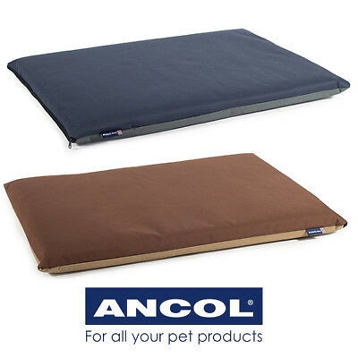 Dog Bed Pillow Ancol Waterproof Flat Pad Washable Outdoor Use 2 Colours 5 Sizes
