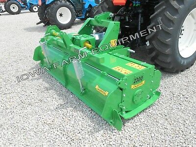 """Rotary Tiller: Valentini HDty 73"""" H1800 Tractor 3Pt, Q-Hitch Compat, 100HP Gbox!"""