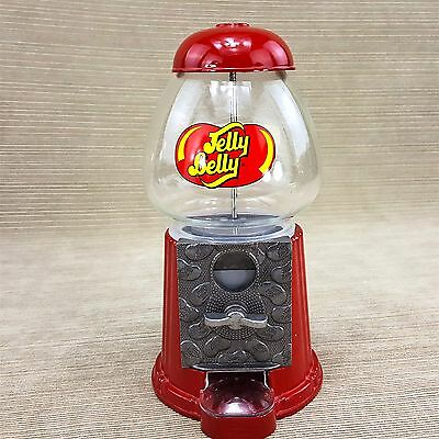 """Jelly Belly Small Candy Gumball Machine 9"""" Dispenser Tabletop Metal & Glass"""