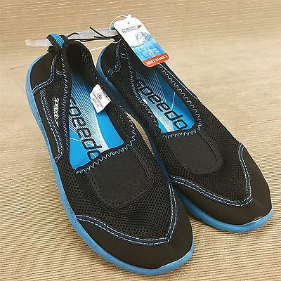Speedo Adult Women's Water Beach Sand Surf Shoes Small 5-6 Black Blue NEW