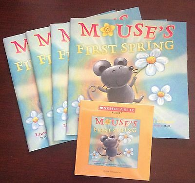 Mouse's First Spring L. Thompson Scholastic Listening Center 4 Books with CD