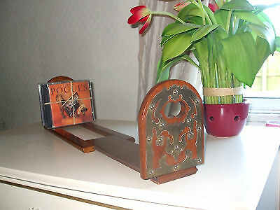 Antique Victorian walnut telescopic book stand, A1 quality, excellent CD store