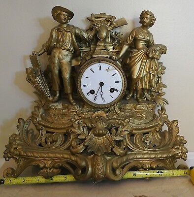 Antique French Armoire Clock by  P.H Mourey 1864