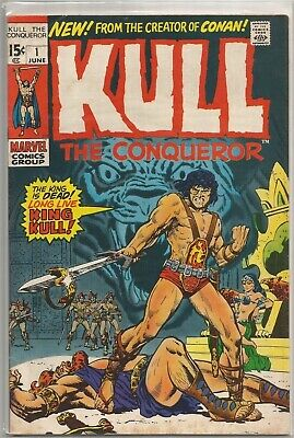 Kull the Conqueror #1 Marvel 1971 Bronze Age Comic FN+/VF- (2nd Kull App.)