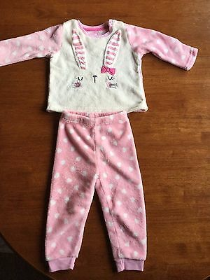 Baby Girls Soft Fleece Pyjamas From Early Days  Age 18-24 Months  Ex Cond