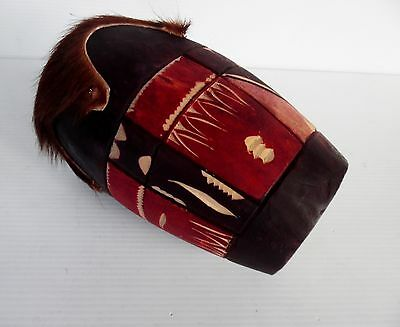 Hand Made Hand Painted Small Hand Drum animal Skin 20 cm x 23 cm Head 10 cm