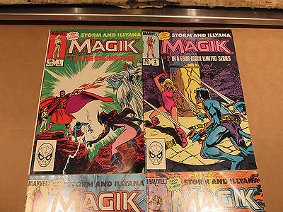 Marvel Comic Book Lot Magik Storm Illyana 1 2 3 4 Complete Very Good Look Close