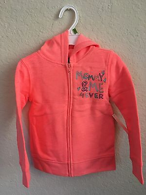 New Girls 3T Joe Boxer Fleece Zip Hoodie Mommy & Me 4 Ever