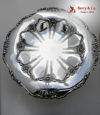 Chantilly Grand Compote Sterling Silver Old Mark Monogram BW