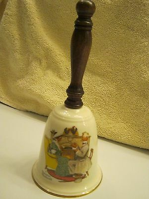 Vintage Norman Rockwell Bell 1978 LOVE'S HARMONY Gorham Fine China Collectible