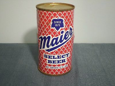 Vintage Maier Select Since 1875 Los Angeles Flat Top Beer Can GB