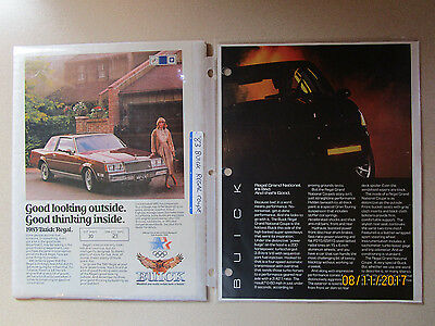 Buick Regal Grand National Ads