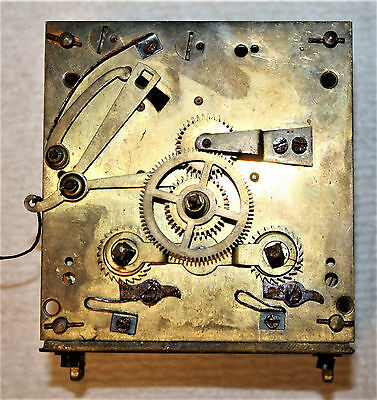 Vintage F.h. Clock Movement As Found