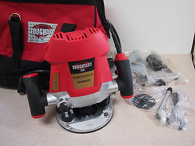 TOUGHTEST QD6802R Electric Corded Plunge Router 2 HP, 1/2""
