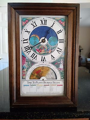 "1975 ""Time To Plant"" Burpee Seeds Moon Face Electrical Clock"
