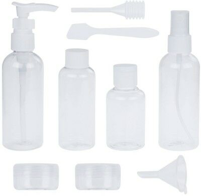 Lictin Pack Of 9 Travel Bottle Set And Free Toiletry Bottle Bag, Refillable For