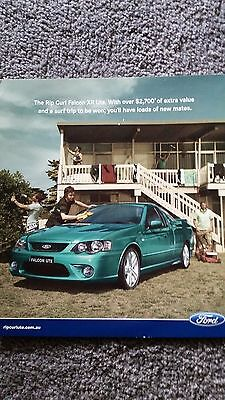 Rip Curl Ford  BF XR8 flyer brochure ..rare