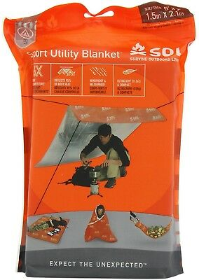 Adventure Medical Kits Sol Sport Utility Blanket - Orange