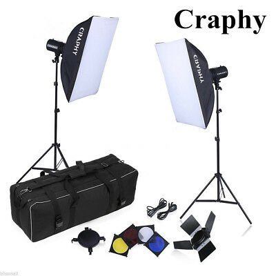 500W PRO Photo Studio Flash Kit Photography Studio Strobe Light Softbox Trigger