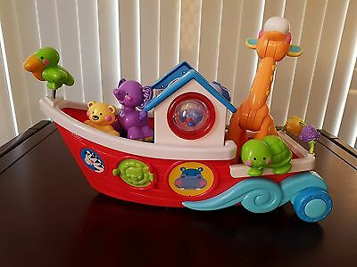 Fisher Price Animal Ark Muscial Roll Along Ark Boat