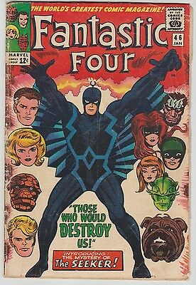 Fantastic Four #46 ('66) 1st appearance of Black Bolt! Key Silver! Hot! TV Show!