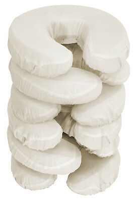 Master Massage 100% Cotton Fitted Flannel Face Pillow Covers 6 Pack (Beige)