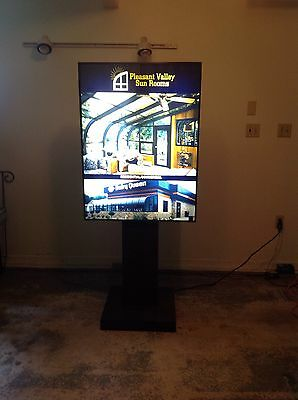 """Indoor freestanding lightbox on pedestal 30'' X 40"""" X 69"""" local delivery availab"""