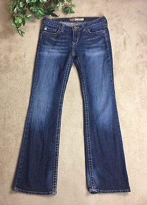 Big Star Women's Jeans Sz 28 Remy Low Rise Fit Stretch Boot Cut Med Wash