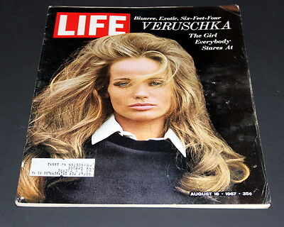 Life Magazine August 18 Th 1967 Model Veruschka