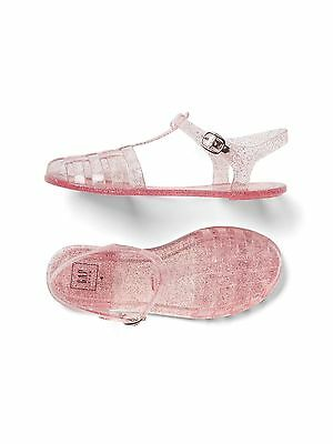 GAP Kids Girls Youth Size 2 US 32 EU Pink Jelly Sandals Flats Water Beach Shoes