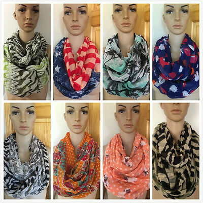 D&Y Fashion Assorted Styles Colors Light Weight Circle Loop Infinity Scarf Wrap