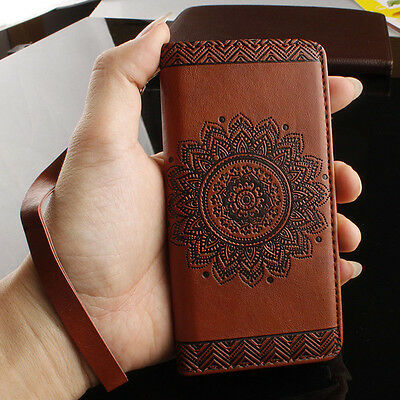 Retro Pattern Leather Stand Flip Card Wallet Phone Case Cover for iPhone 5 5S SE