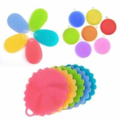 5/10xMultipurpose Antibacterial Silicone Smart Sponge Cleaning Dish Kitchen Tool