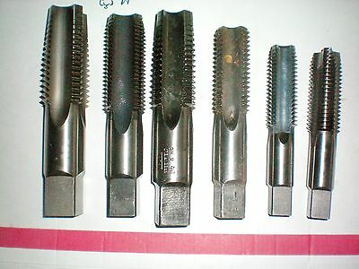 Lot of 6 Hand Taps, Regal, USA, Greenfield, Cromclad, North American