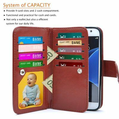 Luxury Magnetic Flip Cover Stand Wallet Leather Case For Samsung Galaxy S7 Edge