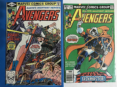 1980 THE AVENGERS 195 & 196, Reader Copies, Cameo + 1st Taskmaster Appearance!